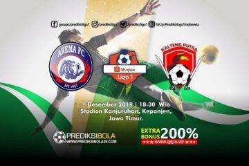 Prediksi Arema FC vs Kalteng Putra 1 Desember 2019