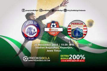 Prediksi Arema FC vs Persija Jakarta 23 November 2019