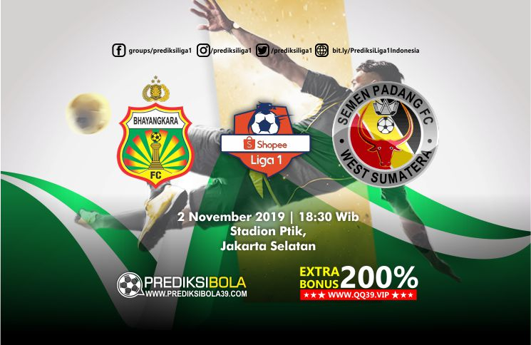 Prediksi Bhayangkara FC vs Semen Padang 2 November 2019