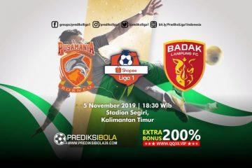 Prediksi Borneo FC vs Perseru Serui 5 November 2019