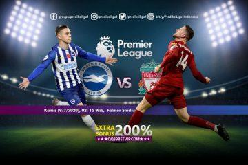 Prediksi Brighton Hove Albion vs Liverpool 9 Juli 2020