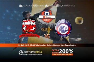 Prediksi Madura United vs Arema FC 20 Juli 2019