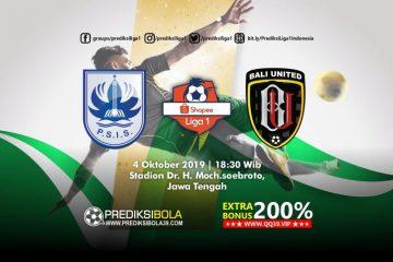 Prediksi PSIS Semarang vs Bali United 4 Oktober 2019