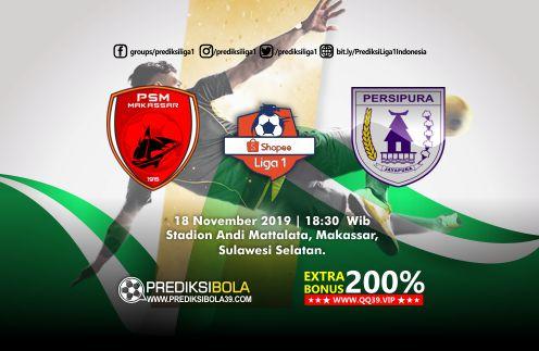 Prediksi PSM Makassar vs Persipura Jayapura 18 November 2019