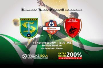 Prediksi Persebaya Surabaya vs PSM Makassar 14 November 2019 1