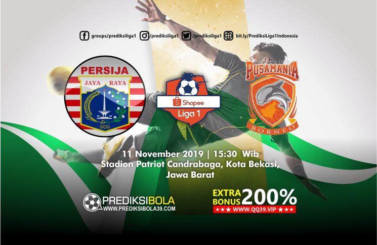 Prediksi Persija Jakarta vs Borneo FC 11 November 2019