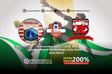 Prediksi Persija Jakarta vs Madura United 13 Desember 2019