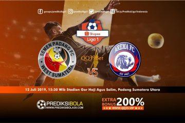 Prediksi Semen Padang vs Arema FC 12 Juli 2019