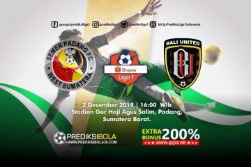 Prediksi Semen Padang vs Bali United 2 November 2019