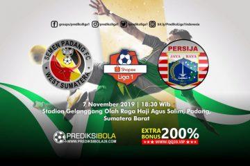 Prediksi Semen Padang vs Persija Jakarta 7 November 2019